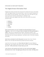 Information by Gold Label Productions The Digital Dream Information Pack 1 docx