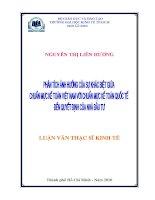 Đề tài: Phân tích ảnh hưởng của sự khác biệt giữa chuẩn mực kế toán Việt Nam với chuẩn mực kế toán quốc tế đến quyết định của nhà đầu tư pdf