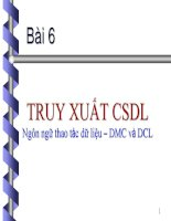 Bài 6 TRUY XUẤT CSDL Ngôn ngữ thao tác dữ liệu – DMC và DCL pot