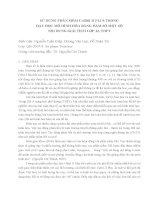 BÁO CÁO KHOA HỌC:SỬ DỤNG PHẦN MỀM CABRI II PLUS TRONG DẠY HỌC MÔ HÌNH HÓA BẰNG HÀM SỐ MỘT SỐ NỘI DUNG GIẢI TÍCH LỚP 12, ppt