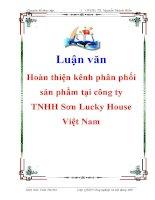 Luận văn: Hoàn thiện kênh phân phối sản phẩm tại công ty TNHH Sơn Lucky House Việt Nam docx
