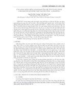 Báo cáo khoa học: Ứng dụng phần mềm thấm dị hướng để tính toán thấm cho đập đất hồ sinh thái Nam Phương – Lâm Đồng pptx