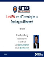 LabVIEW and NI Technologies in Teaching and Research pptx
