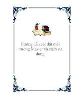 Hướng dẫn cài đặt môi trường Master và cách sử dụng potx
