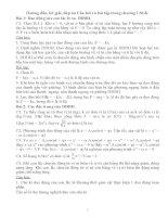 Hướng dẫn, lời giải, đáp án Câu hỏi và bài tập trong chương I SGK potx