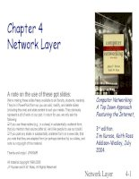 Computer Networking: A Top Down Approach Featuring the Internet - Chapter 4 Network Layer pptx