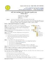 ĐỀ THI CHỨNG CHỈ TIN HỌC QUỐC GIA TRÌNH ĐỘ A 2008 - ĐH AN GIANG ppt