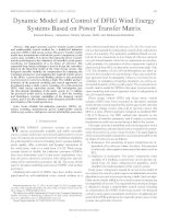 Dynamic Model and Control of DFIG Wind Energy Systems Based on Power Transfer Matrix
