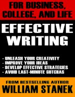 For business college and life Effective writing pdf