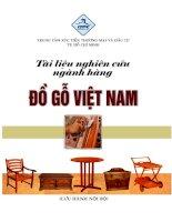 Tài liệu nghiên cứu ngành hàng đồ gỗ của Việt Nam ppt