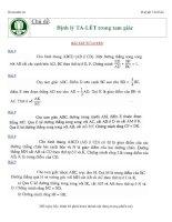 Chủ đề định lý Ta- let trong tam giác - Huỳnh Chí Hào pptx