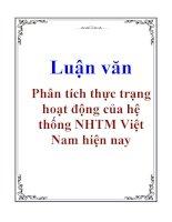 Luận văn: Phân tích thực trạng hoạt động của hệ thống NHTM Việt Nam hiện nay pptx
