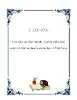 LUẬN VĂN: Tìm hiểu sự hình thành và phát triển khái niệm xã hội hoá trong xã hội học ở Việt Nam pdf