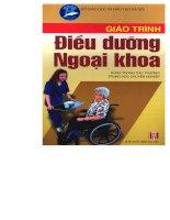 Giáo trình điều dưỡng ngoại khoa pdf