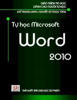 GIÁO TRÌNH MICROSOFT WORD 2010 - ThS. Đỗ Trọng Danh ThS. Nguyễn Vũ Ngọc Tùng pptx