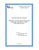 báo cáo tốt nghiệp   tìm hiểu và xây dựng ứng dụng  wed  siêu thị trực tuyến  với asp net mvc