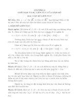 CHƯƠNG 2 GIỚI HẠN VÀ SỰ LIÊN TỤC CỦA HÀM SỐ potx