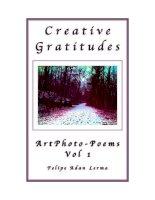 Creative Gratitudes ArtPhoto-Poems Vol 1 ppt