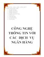 TIỂU LUẬN: CÔNG NGHỆ THÔNG TIN VỚI CÁC DỊCH VỤ NGÂN HÀNG pdf