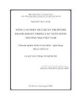 Đề tài: NÂNG CAO HIỆU QUẢ QUẢN TRỊ RỦI RO THANH KHOẢN TRONG CÁC NGÂN HÀNG THƯƠNG MẠI VIỆT NAM docx