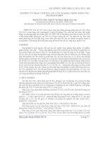 Báo cáo khoa học: Nghiên cứu hoạt tính xúc tác của TiO2/SiO2 trong phản ứng oxi hóa Stiren potx
