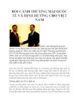 Bối cảnh thương mại quốc tế và định hướng cho Việt Nam pdf