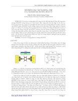 Báo cáo khoa học: Mô phỏng đặc trưng dòng - thế của transistor trường phân tử ppt