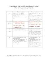 Present simple and Present continuous ( Hiện tại đơn và hiện tại tiếp diễn) pot