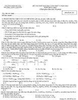 Đề và đáp án thi thử đại học môn hóa Chuyên sư phạm lần 5 pptx