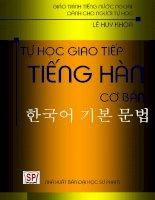 GIÁO TRÌNH Tự học giao tiếp tiếng Hàn cơ bản docx