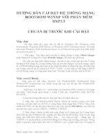 HƯỚNG DẪN CÀI ĐẶT HỆ THỐNG MẠNG BOOTROM WINXP VỚI PHẦN MỀM BXP2.5 pdf