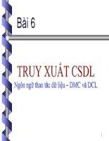 TRUY XUẤT CSDL: Ngôn ngữ thao tác dữ liệu – DMC và DCL pot