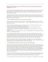 Một số giải pháp kiểm soát chi phí nhằm nâng cao hiệu quả hoạt động trong doanh( p1) 19-02-2011 doc