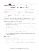 ĐỀ THI KẾT THÚC HỌC PHẦN MÔN XÁC SUẤT THỐNG KÊ TRƯỜNG ĐH KINH TẾ TÀI CHÍNH TP.HCM UEF – ĐỀ 2 potx
