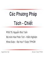 Các Phương Pháp Tách - Chiết pdf