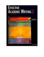 Effective Academic Writing ppt