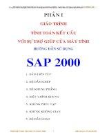 Giáo trình : Tính toán kết cấu với sự trợ giúp của máy tính_ Hướng dẫn sử dụng SAP 2000 pdf