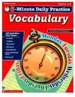 Minute Daily Practice Vocabulary doc