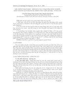 Báo cáo khoa học: Đặc điểm thạch học - khoáng vật, thạch địa hóa và điều kiện thành tạo granitoit khối châu viên, Bà Rịa - Vũng Tàu docx
