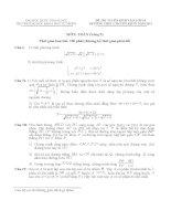 Đề thi chuyên Toán tin DH KHTN năm 2011 - Đề số 2 doc