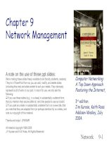 Computer Networking: A Top Down Approach Featuring the Internet - Chapter 9 Network Management potx