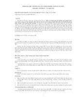 ĐỀ TÀI : ĐÁNH GIÁ ẢNH HƯỞNG CỦA CÂY CÔNG NGHIỆP THÂN GỖ (CÀ PHÊ) ĐẾN MÔI TRƯỜNG Ở TÂY NGUYÊN pdf