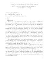 BÁO CÁO KHOA HỌC:XÂY DỰNG CÁC BIỆN PHÁP HƯỚNG DẪN HỌC SINH TỰ ÔN TẬP PHẦN LỊCH SỬ THẾ GIỚI HIỆN ĐẠI (CHƯƠNG TRÌNH LỚP 11) docx