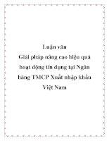 Luận văn: Giải pháp nâng cao hiệu quả hoạt động tín dụng tại Ngân hàng TMCP Xuất nhập khẩu Việt Nam doc
