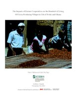 The Impacts of Farmer Cooperatives on the Standard of Living Of Cocoa Producing Villages in Côte d'Ivoire and Ghana pptx