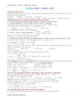 Chuyên đề 3 Amin - Amino Axit - Peptit pptx