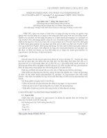 Báo cáo khoa học: Khảo sát khả năng thu nhận và cố định enzym Glucoamylase từ Asp.niger và Asp.awamori trên chất Mang Kaolin pptx