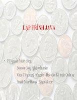 Giáo trình Java - Lec1: Tổng quan về Java pot
