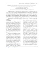 Báo cáo khoa học:Mô hình tính toán áp lực sóng tác dụng lên tường đứng dựa trên hệ phương trình navier-stokes hai chiều pdf
