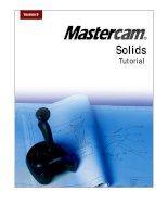 Mastercam Version 9 Solids Tutorial docx